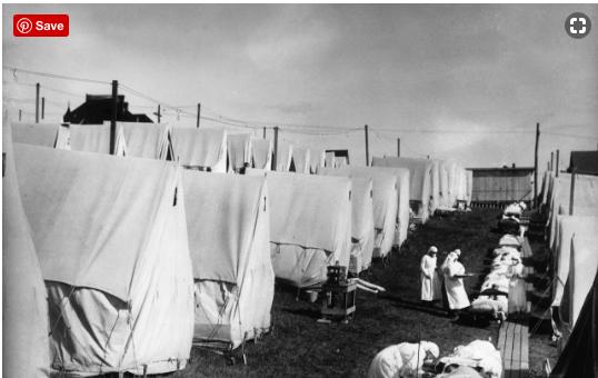 Các y tá chăm sóc cho bệnh nhân trong dịch cúm Tây Ban Nha năm 1918 ở Mỹ