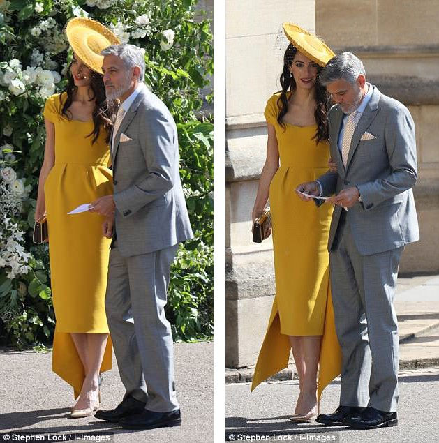Vợ chồng George Clooney đã gây choáng ngợp tại sự kiện.