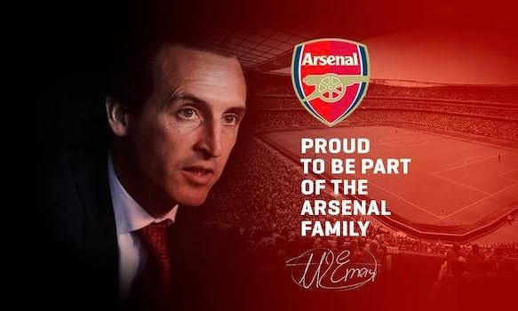 HLV Unai Emery thông báo trên trang chủ của mình việc sắp làm HLV Arsenal