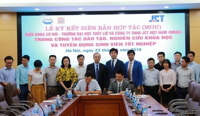 Khoa Cơ khí trường ĐH Thủy Lợi đã ký kết hợp tác với Công ty TNHH JCT Việt Nam (JCT).
