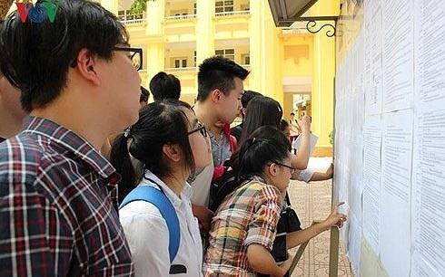Thí sinh tham dự kỳ thi THPT Quốc gia năm 2017.