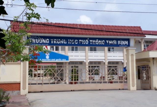 Trường THPT Thới Bình, nơi nghi can Nguyễn Văn Điền theo học lóp 12.