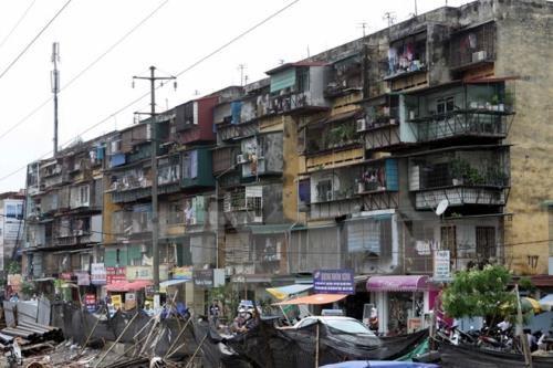 Hiện tại Hà Nội có tới 1.579 chung cư cũ, tập trung ở 76 khu.