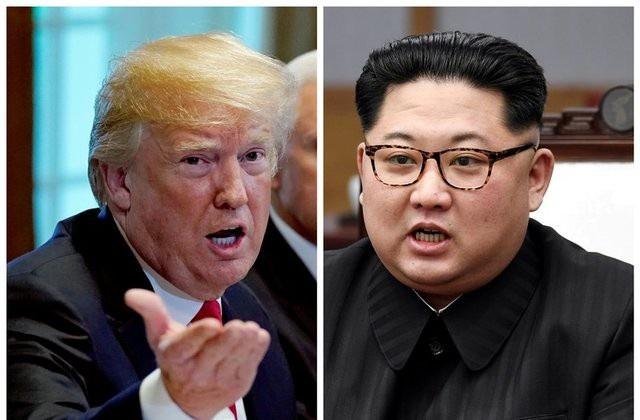 Tổng thống Mỹ Donald Trump (trái) và nhà lãnh đạo Triều Tiên Kim Jong-un (Ảnh: Getty)