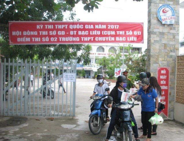 Một điểm thi THPT Quốc gia năm 2017 của tỉnh Bạc Liêu.