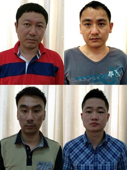 Nhóm đối tượng người Trung Quốc chiếm đoạt tài sản bằng thẻ tín dụng giả bị bắt giữ.