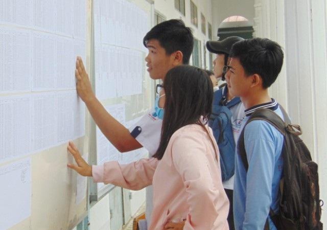 Thí sinh dự thi THPT Quốc gia năm 2017.
