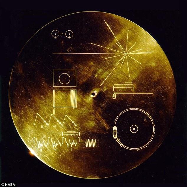 Đĩa ghi vàng được đưa vào vũ trụ trên tàu thăm dò Voyager 1 và 2.