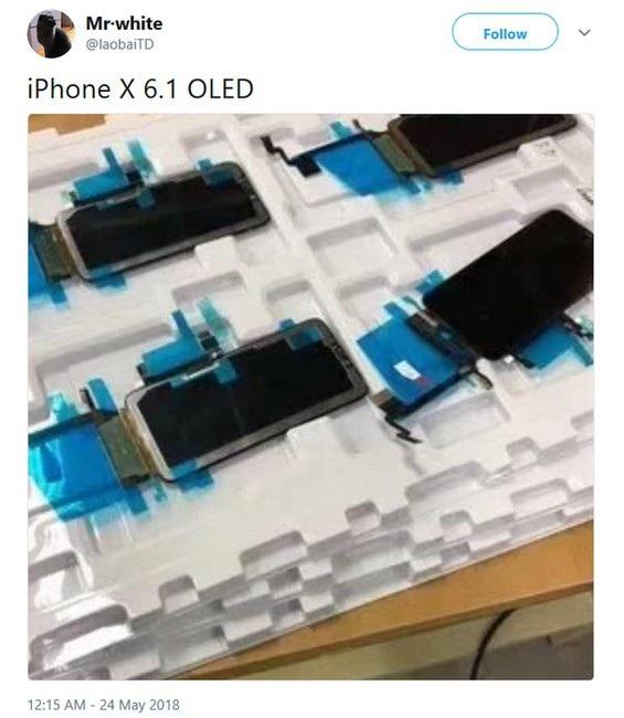 Hình ảnh màn hình OLED của phiên bản iPhone 9 (6,1-inch), được cho là chụp bên trong nhà máy lắp ráp tại Trung Quốc