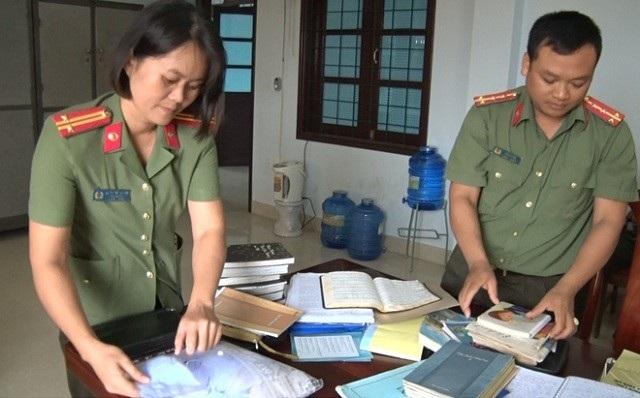 Cơ quan chức năng tỉnh Quảng Bình thu giữ nhiều tài liệu liên quan đến Hội thánh Đức Chúa Trời tài nhà ông Thí