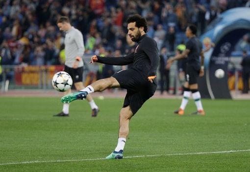 Salah lần đầu trở lại mái nhà xưa kể từ khi rời đội bóng của thủ đô Italia vào Hè năm ngoái