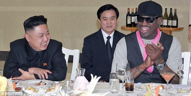 Ông Kim Jong-un và ông Dennis Rodman (Ảnh: Reuters)