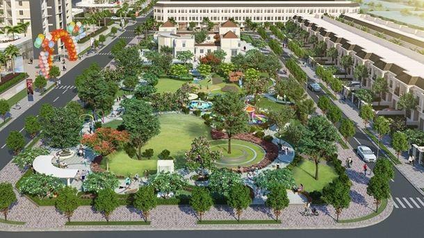 Thang Long Home – Hiệp Phước có diện tích mảng xanh lớn, mang đến không gian sống trong lành.
