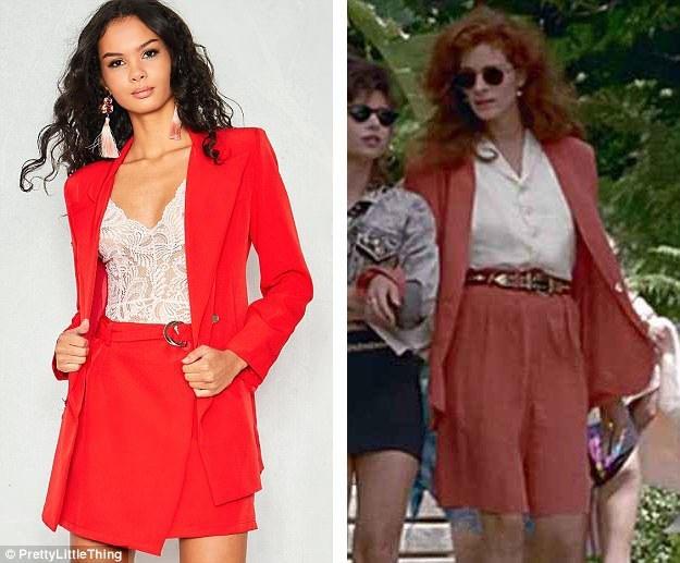 """Chiếc áo khoác kết hợp váy ngắn này cũng được lấy cảm hứng từ một bộ """"suit"""" ngắn của Vivian."""