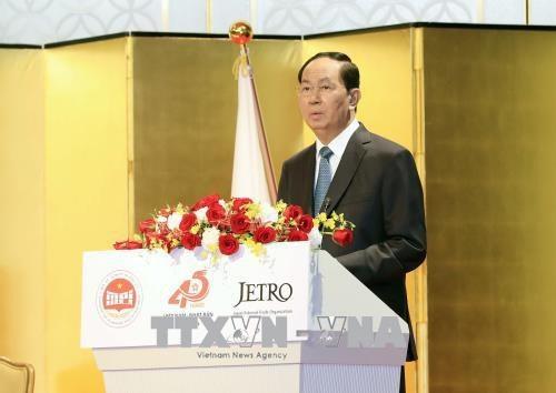 Chủ tịch nước Trần Đại Quang phát biểu tại hội nghị. Ảnh: Nhan Sáng - TTXVN