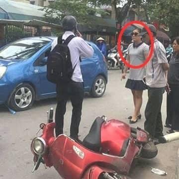 Cơ quan công an xác định bà Trang không có lỗi trong va chạm giao thông (ảnh FB)