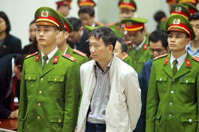 Cựu Chủ tịch PVC Trinh Xuân Thanh nghe toà tuyên án tại phiên sơ thẩm.
