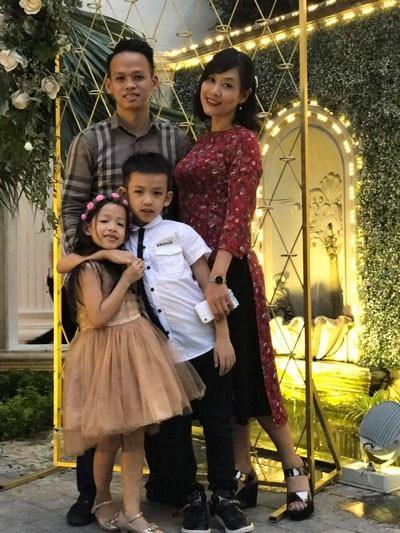 Gia đình hạnh phúc, bình yên của Hà Hương.