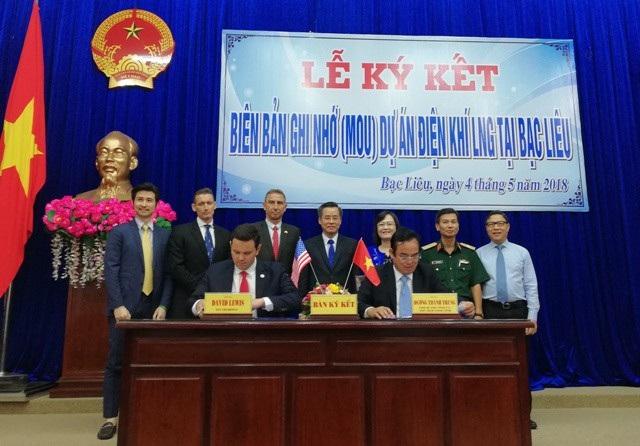 UBND tỉnh Bạc Liêu và nhà đầu tư ký kết ghi nhớ thực hiện dự án nhà máy điện khí 4 tỷ USD.