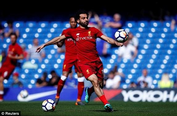 Salah trong lần đầu trở lại Chelsea kể từ khi chuyển sang Liverpool