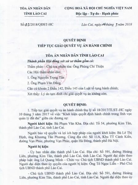 Bị người dân đồng loạt khởi kiện, Chủ tịch tỉnh Lào Cai lại chuẩn bị hầu tòa! - 1