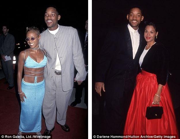 Jada bắt đầu quen với Will hồi năm 1994, mới đây, trong seri phim tự thực hiện xoay quanh cuộc sống gia đình của mình, Jada đã chia sẻ thẳng thắn trước vợ cũ của Will rằng cô hối tiếc vì đã hẹn hò anh ngay khi quá trình ly hôn của họ còn đang diễn ra (trong ảnh là Sheree và tài tử Will Smith hồi năm 1993 và 1995).