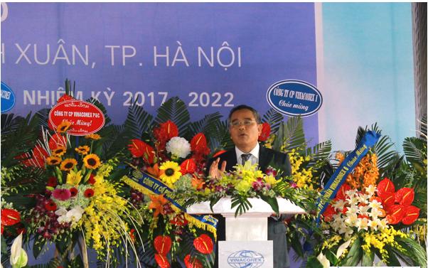 Chủ tịch HĐQT TCT Vinaconex Vũ Quý Hà phát biểu tại Lễ động thổ và khởi công dự án Bohemia Residence
