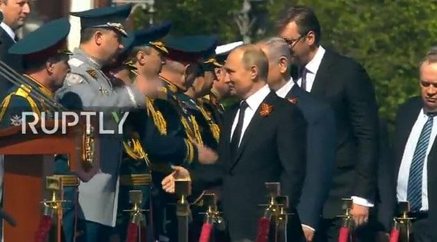 Tổng thống Vladimir Putin tới lễ duyệt binh