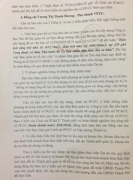 Văn phòng Thành ủy Hà Nội giải quyết đơn tố cáo của cư dân chung cư 229 Phố Vọng - 2