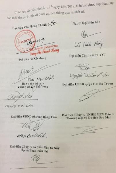 Văn phòng Thành ủy Hà Nội giải quyết đơn tố cáo của cư dân chung cư 229 Phố Vọng.