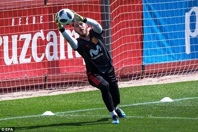 Thủ thành De Gea được Tây Ban Nha đặt khá nhiều kỳ vọng ở World Cup 2018