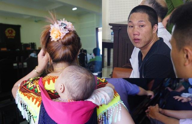 Vợ Nái địu con đến tòa mong con được gặp cha. Thò Bá Nái bật khóc khi lần đầu tiên và cũng có thể là lần cuối cùng được bế đứa con của mình