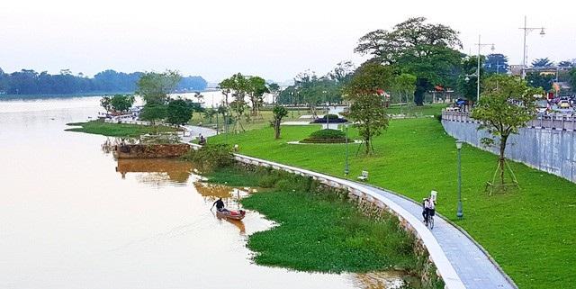 Khu vực tại công viên cầu Dã Viên, TP Huế sắp được triển khai dự án đỗ - đậu xe xanh