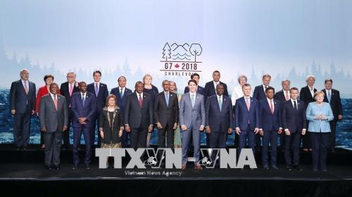 Thủ tướng Nguyễn Xuân Phúc cùng các đại biểu tham dự Hội nghị Thượng đỉnh G7 tại Canada (ảnh: TTXVN)
