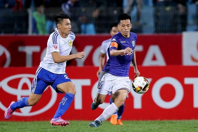 Cặp đấu giữa CLB Hà Nội và Than Quảng Ninh thường diễn ra gây cấn ở những mùa bóng gần đây (ảnh: Gia Hưng)