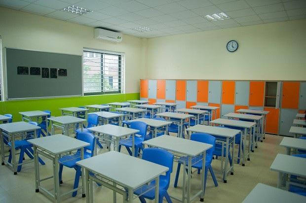 Phòng học với sĩ số tối đa 30 học sinh.