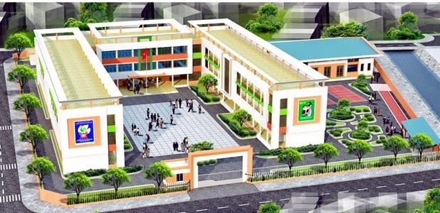 Phối cảnh trường Tiểu học Trần Quốc Toản.