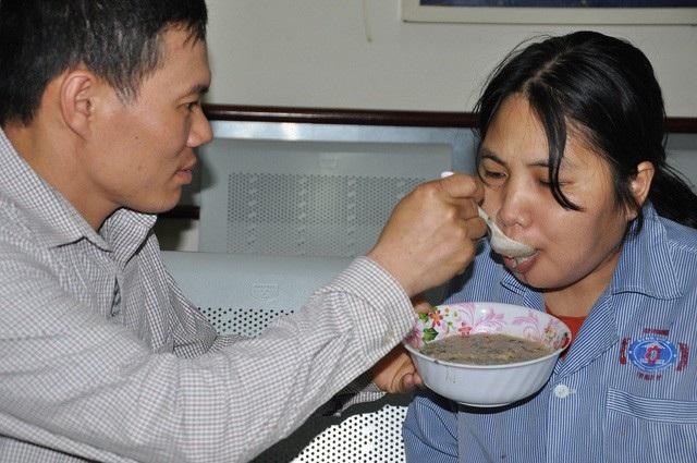 Chồng chị Vân là anh Trung bị ung thư hạch.