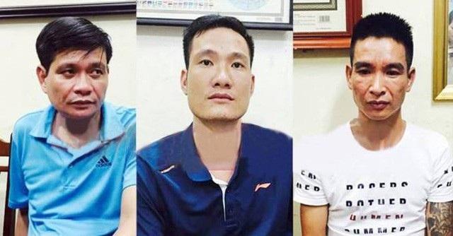 3 nghi phạm tham gia giết giám đốc doanh nghiệp khi đi lễ ở Hà Nam (ảnh do cơ quan điều tra cung cấp)