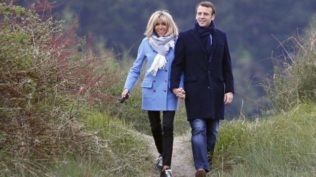 Vợ chồng Tổng thống Pháp Emmanuel Macron (Ảnh: Getty)