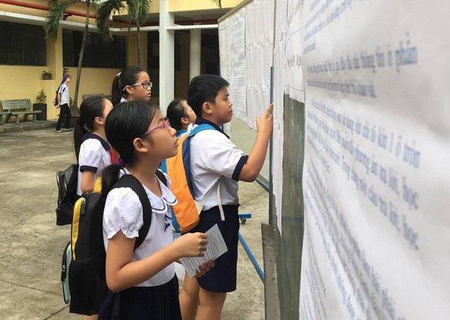 Thí sinh dự thi vào lớp 6 Trường THPT chuyên Trần Đại Nghĩa. (Ảnh: Hoài Nam)