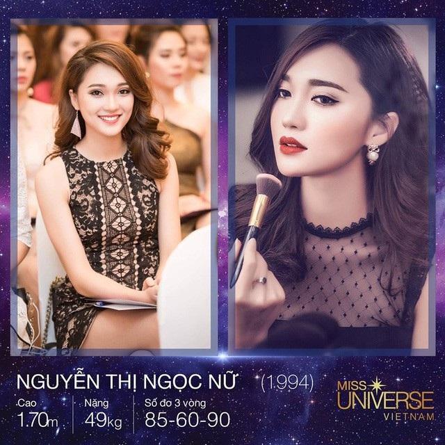 Với nhan sắc ngọt ngào cùng nụ cười rạng rỡ, Nguyễn Thị Ngọc Nữ đã giành được danh hiệu Người đẹp Ảnh (Miss Photo), đồng thời lọt Top 10 Hoa hậu Hoàn vũ Việt Nam 2017.