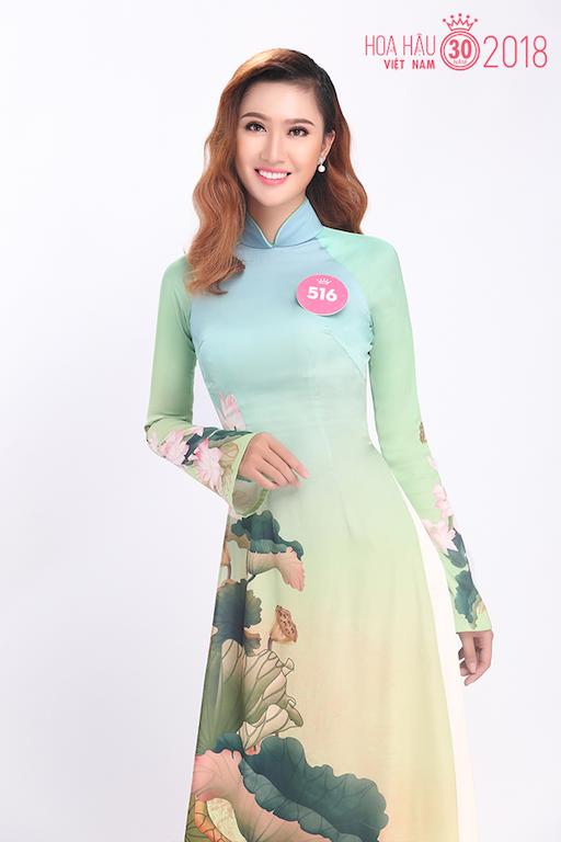 30 người đẹp Hoa hậu Việt Nam 2018 khoe nét thanh xuân trong tà áo dài - 5