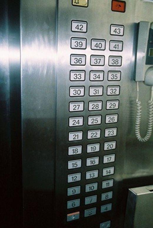 Thang máy không có tầng 5. (Ảnh: Facebook)