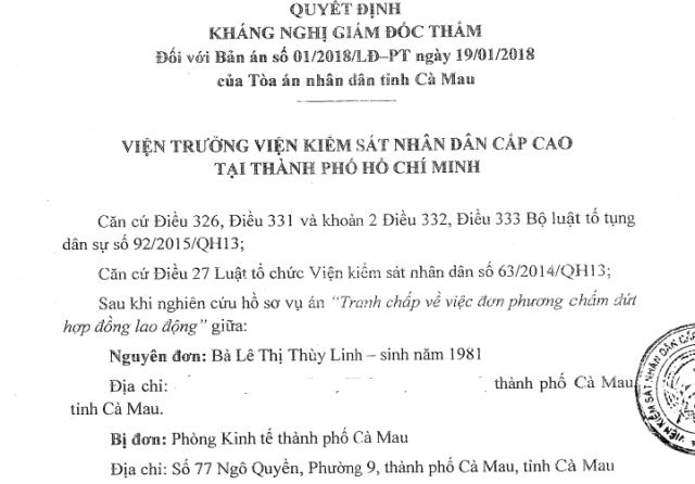 VKSND Cấp cao kháng nghị toàn bộ 2 bản án của 2 cấp tòa tỉnh Cà Mau! - 2