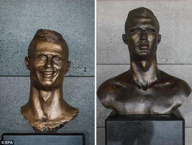 Tượng mới giống Ronaldo hơn nhưng không được fan yêu mến như tượng cũ