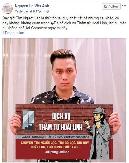 Diễn viên Việt Anh đặt niềm tin vào Dịch vụ thám tử Hoài Linh