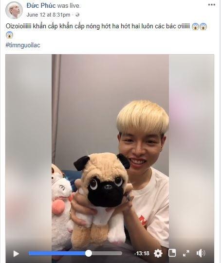 Đức Phúc muốn nhờ thám tử Hoài Linh tìm giúp chú cún của mình