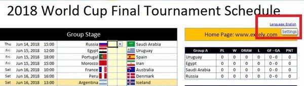 Bộ lịch thi đấu thông minh - Công cụ không thể thiếu cho dịp World Cup 2018 - 1