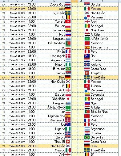Những trận đấu có đội tuyển Đức thi đấu sẽ được làm nổi bật để người dùng dễ dàng chú ý hơn, không bỏ qua những trận đấu này